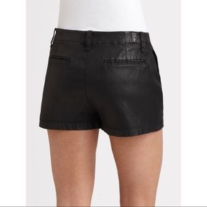 7 for all mankind black coated shorts pleated 28